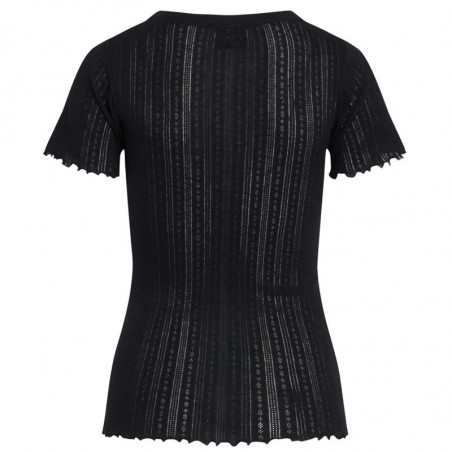 Mads Nørgaard T-shirt, Pointella Trixa, Black, økologisk bomuld, økologisk t-shirt, basic t-shirt, babylock - bagside