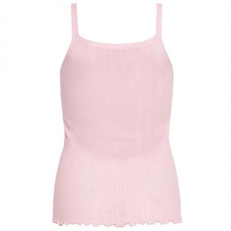 Mads Nørgaard Top, Pointella Trille, Light Pink, babylock, top med tynde stropper, økologisk bomuld - bagside