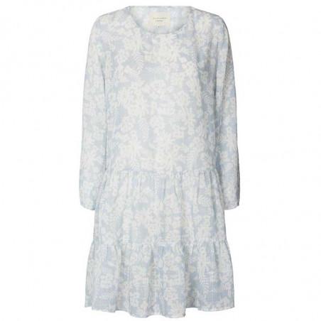 Lollys Laundry Kjole, Albert, Dusty Blue, sommerkjole, hverdagskjole