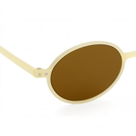 Izipizi Solbriller, Slim Sun, Cream, solbriller med UV, retro-inspireret solbriller - detalje