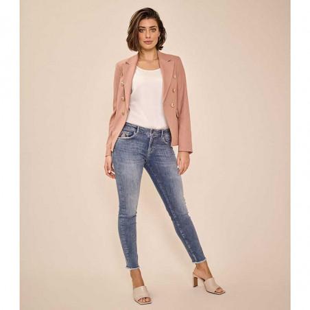 Mos Mosh Jeans, Sumner Premium, Blue på model