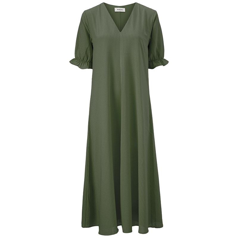 Modström Kjole, Clementine,  Sea Green, sommerkjole, hverdagskjole, mørk grøn kjole, festkjole, modstrom kjole, modstrøm