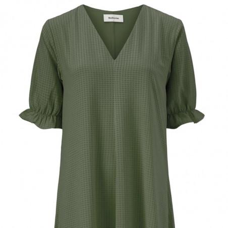 Modström Kjole, Clementine,  Sea Green, sommerkjole, hverdagskjole, lyseblå kjole, festkjole, modstrom kjole, modstrøm - detalje