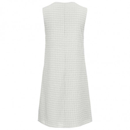 Modström Kjole, Jada, Off White - bagside,hverdagskjole, sommerkjole, kort kjole, festkjole