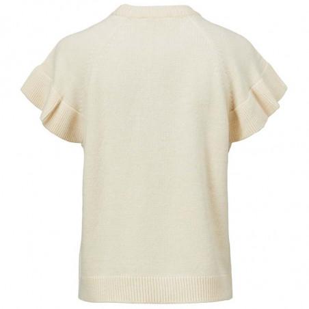 Modström Vest, Jaime, Cream Milk, modstrpm bluse, modstrøm, strikvest - bagside