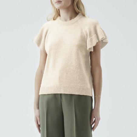 Modström Vest, Jaime, Cream Milk, modstrpm bluse, modstrøm, strikvest - model
