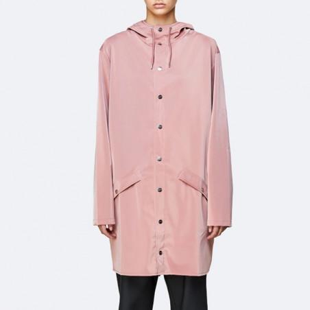 Rains Regnjakke, Lang, Blush, regnjakke, regnfrakke - model