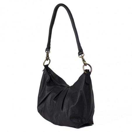 ReDesigned By Dixie Taske, Abir Urban, Black, skuldertaske, ReDesigned taske, taske i læder - fra siden