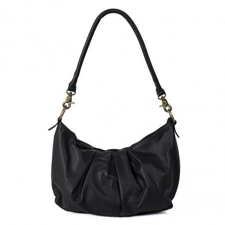 ReDesigned By Dixie Taske, Abir Urban, Black, skuldertaske, ReDesigned taske, taske i læder