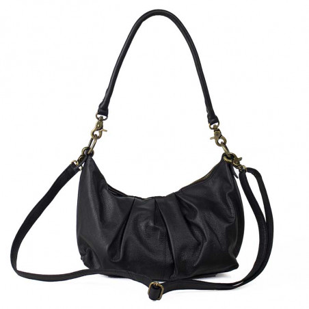 ReDesigned By Dixie Taske, Abir Urban, Black, skuldertaske, ReDesigned taske, taske i læder - front