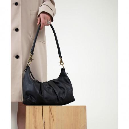 ReDesigned By Dixie Taske, Abir Urban, Black, skuldertaske, ReDesigned taske, taske i læder - model