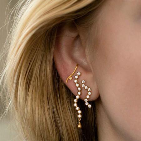 Stine A Ørering, Midnight Sparkle, Gold Right, øreringe i 18 karat , model
