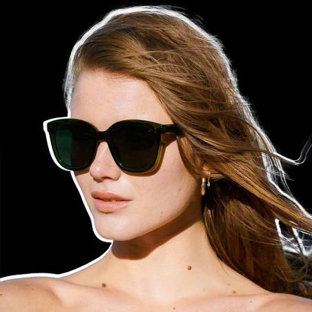 A Kjærbede Solbriller, Billy,Dark Green Transparent, A. Kjærbede solbrille - model