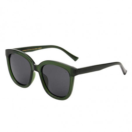 A Kjærbede Solbriller, Billy, Dark Green Transparent, A. Kjærbede solbrille - fra siden