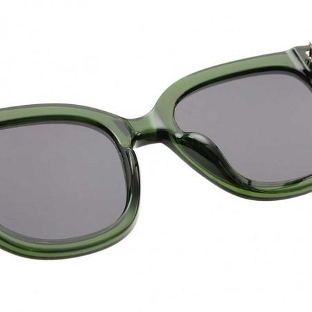 A Kjærbede Solbriller, Billy, Dark Green Transparent, A. Kjærbede solbrille - detalje