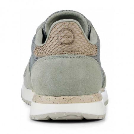 Woden Sneakers, Ydun Fifty, Seagrass woden sko dame woden hælkap