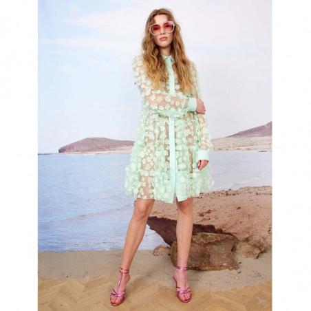 Hunkøn Kjole, Florentina Layer, Mint, sommerkjole, festkjole, skjortekjole, hverdagskjole - Model front