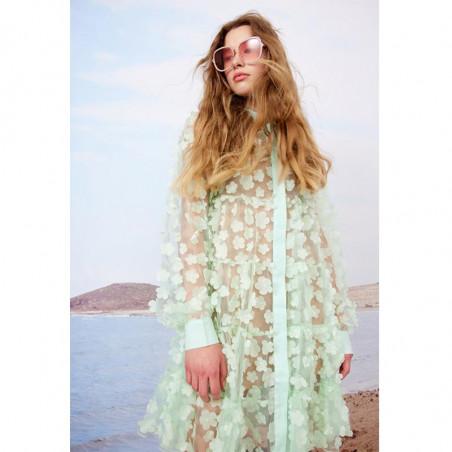 Hunkøn Kjole, Florentina Layer, Mint, sommerkjole, festkjole, skjortekjole, hverdagskjole - tæt på