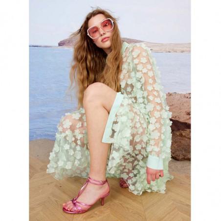 Hunkøn Kjole, Florentina Layer, Mint, sommerkjole, festkjole, skjortekjole, hverdagskjole - detalje