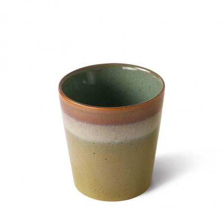 HK Living Krus, 70's Coffee Mugs, Sæt m/4 stk keramik krus grønt