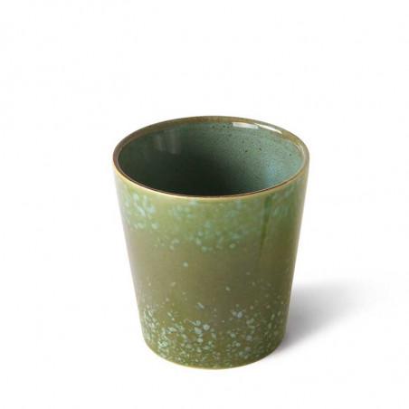 HK Living Krus, 70's Coffee Mugs, Sæt m/4 stk Green