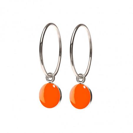 Scherning Øreringe, Spot, Neon Orange/Sølv Scherning smykker