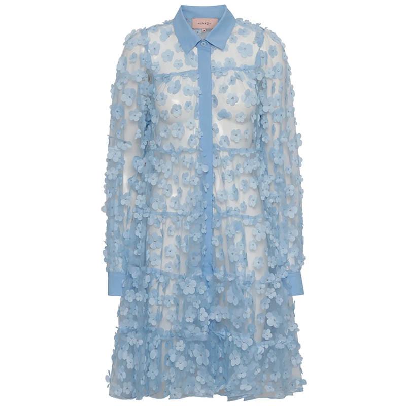 Hunkøn Kjole, Florentina Layer, Light Blue Hunkøn skjortekjole Festkjole Kendt fra X-factor