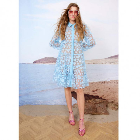 Hunkøn Kjole, Florentina Layer, Light Blue Hunkøn skjortekjole Festkjole Kendt fra X-factor look