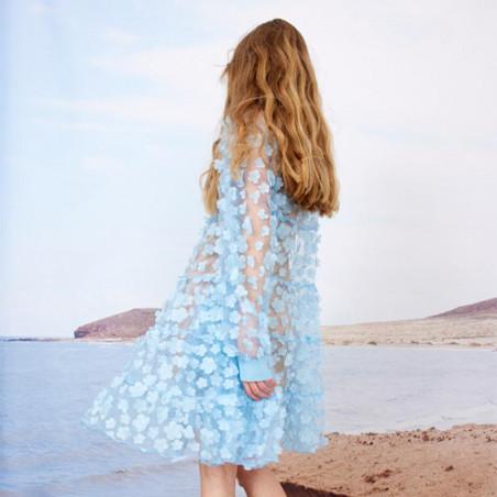 Hunkøn Kjole, Florentina Layer, Light Blue Hunkøn skjortekjole Festkjole Kendt fra X-factor ryg