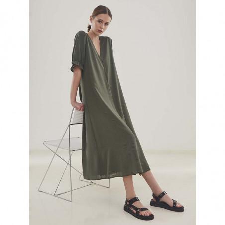 Modström Kjole, Clementine,  Sea Green, sommerkjole, hverdagskjole,  Grøn kjole, festkjole, modstrom kjole, modstrøm Look