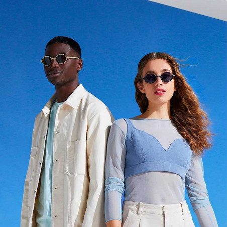 Izipizi Solbriller, Slim Sun, Cream, solbriller med UV bæredygtige solbriller look