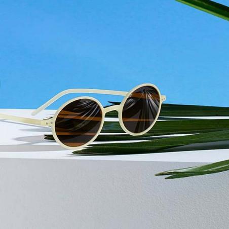 Izipizi Solbriller, Slim Sun, Cream, solbriller med UV bæredygtige solbriller