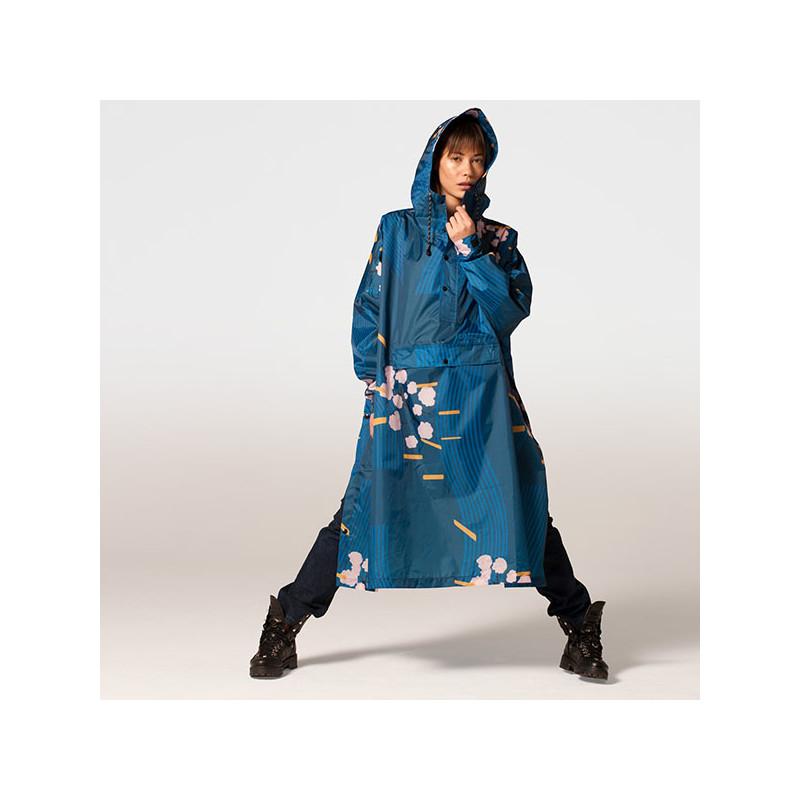 Rainkiss Regnjakke, Japanese Blossom Poncho, Japanese Blossom, regntøj, regnjakke, regnponcho