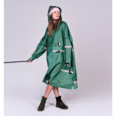 Rainkiss Regnjakke, Stray Pixel Poncho, Stray Pixel, regntøj, regnjakke, regnponcho