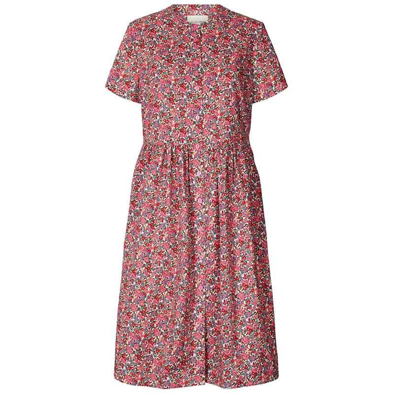 Lollys Laundry Kjole, Aliya, Pink Flower Print