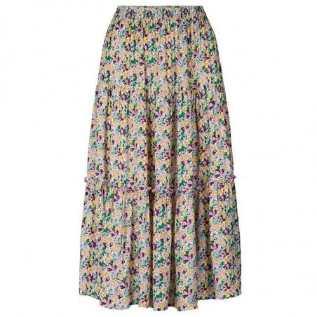 Lollys Laundry Nederdel, Morning, Multi, lang nederdel, Lollys Laundry Morning Skirt