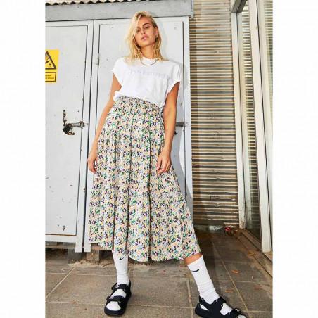 Lollys Laundry Nederdel, Morning, Multi, lang nederdel, Lollys Laundry Morning Skirt - model