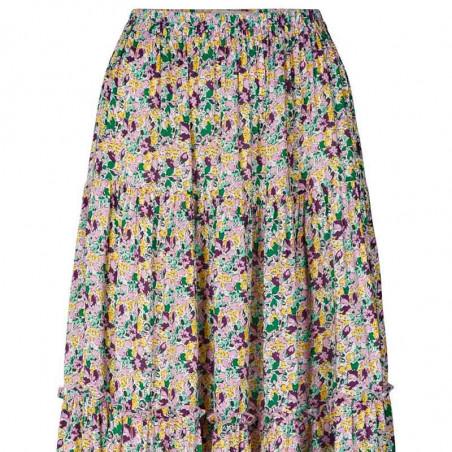 Lollys Laundry Nederdel, Morning, Multi, lang nederdel, Lollys Laundry Morning Skirt - print