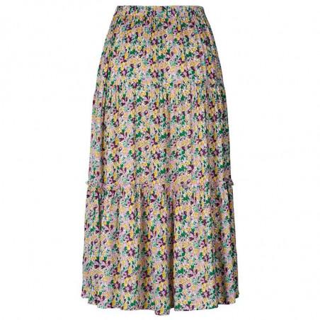 Lollys Laundry Nederdel, Morning, Multi, lang nederdel, Lollys Laundry Morning Skirt - bagside
