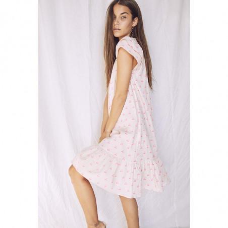 Co'Couture Kjole, Sunrise Crop Cherry, Neon Pink sommerkjole på model