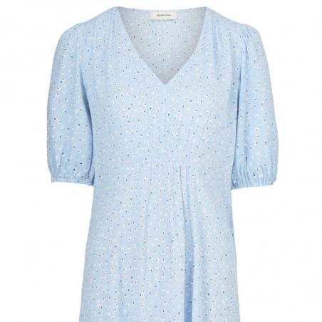 Modström Kjole, Tammi, Blue Mini Bloom, sommerkjoler, hverdagskjole, festkjole, Modstrøm kjole - modström Tammi dress