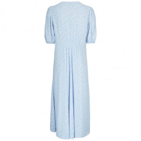 Modström Kjole, Tammi, Blue Mini Bloom, sommerkjoler, hverdagskjole, festkjole, Modstrøm kjole - bagside