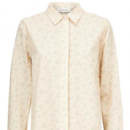 Modström Skjorte, Juna, Romantic Flower, langærmet skjorte, Modström Juna shirt - front