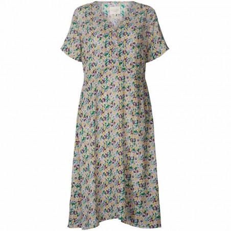 Lollys Laundry Kjole, Anja, Multi, sommerkjole, hverdagskjole, Lollys Laundry Anja Dress
