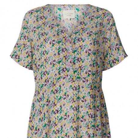 Lollys Laundry Kjole, Anja, Multi, sommerkjole, hverdagskjole, Lollys Laundry Anja Dress - Front