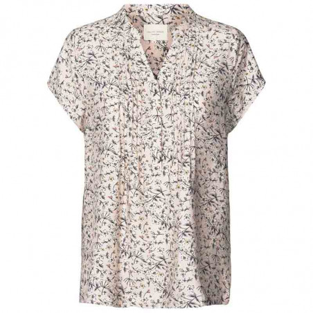 Lollys Laundry Bluse, Heather, Nude, sommertop, bluse med korte ærmer, Lollys Laundry Heather Top