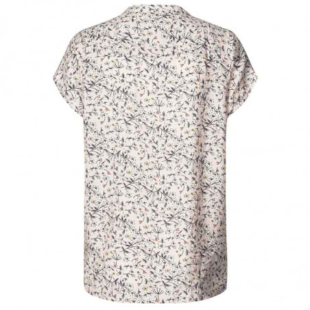 Lollys Laundry Bluse, Heather, Nude, sommertop, bluse med korte ærmer, Lollys Laundry Heather Top - bagside