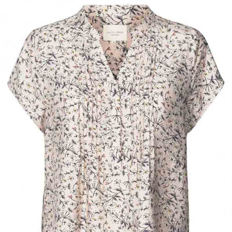 Lollys Laundry Bluse, Heather, Nude, sommertop, bluse med korte ærmer, Lollys Laundry Heather Top - Front