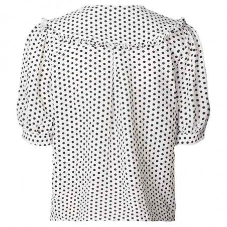 Lollys Laundry Skjorte, Axel, Creme, kortærmet skjorte, hvid skjorte, Lollys Laundry Axel Shirt - Bagside