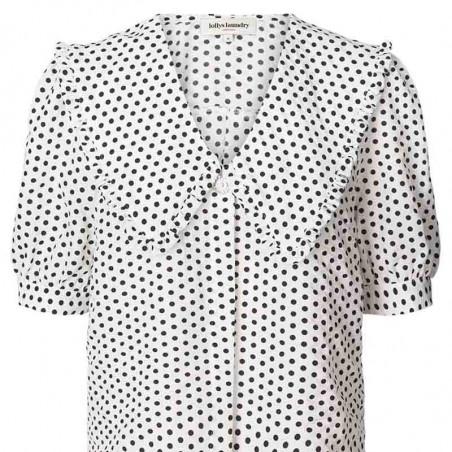 Lollys Laundry Skjorte, Axel, Creme, kortærmet skjorte, hvid skjorte, Lollys Laundry Axel Shirt - front